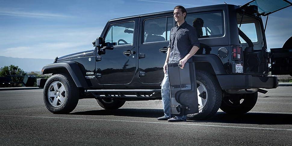 Amazon Com Gpca Cargo Cover Lite For Jeep Wrangler Jku Sports