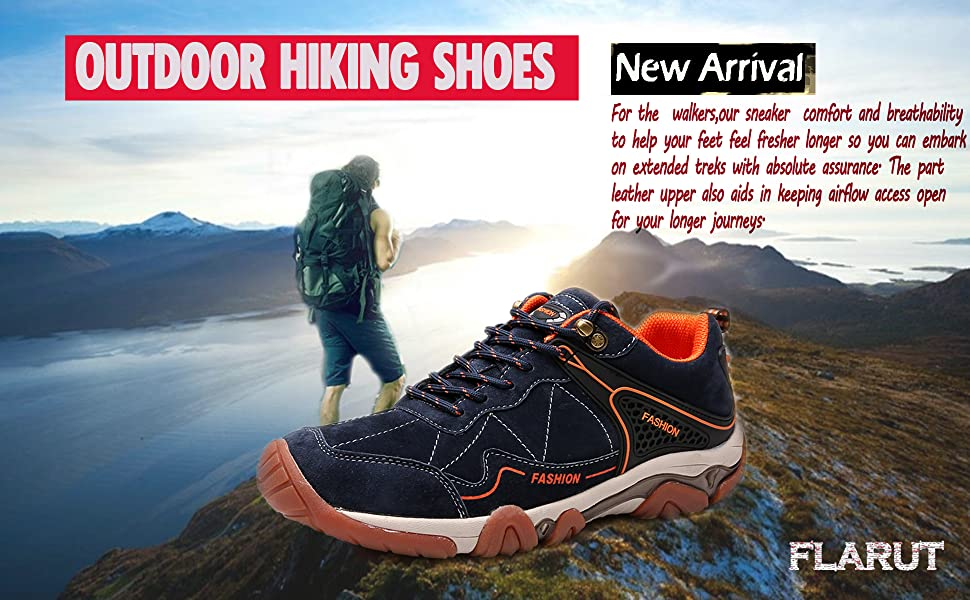 10d3c2a73ba36 FLARUT Hiking Shoes Men Outdoor Sports Backpacking Boots Trekking ...
