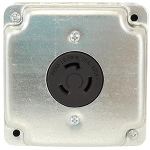 AC WORKS [ADL620620] NEMA L6-20P 20Amp 250Volt Locking Plug to NEMA on 120 volt outlet diagram, 3 wire 220 outlet diagram, 3 wire 220 volt diagram, 110 ac outlet diagram, 4 wire 220 volt diagram, nema l6 30 wiring diagram, nema l6-30p diagram,