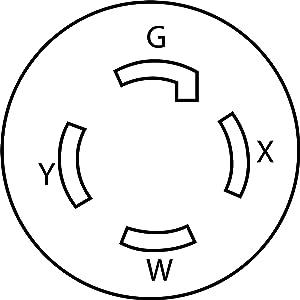ac works 6 50 welder adapter l14 30 30a 4 prong generator NEMA 5-20 Plug nema l14 30r female connector