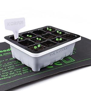 Amazon Com Koram 10 Sets Seed Starter Tray 120 Cells