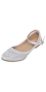 84067feed8c37e SheSole Women s Flat White Pearl Beach Wedding Sandals Bridal Shoes ...