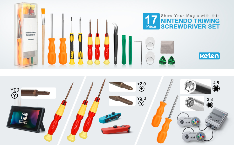 Keten Nintendo Triwing Screwdriver Repair Kit