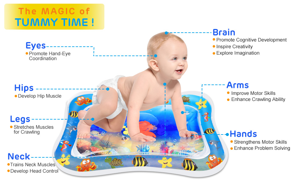 Inflatable play water mat