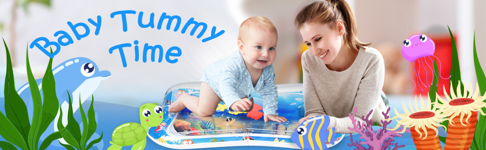 Inflatable Tummy Time Baby Water Play