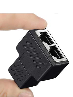 RJ45 Splitter Connectors Adapter 1 to 2 Ethernet Splitter