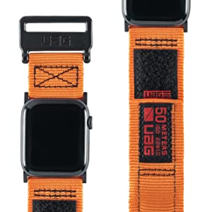 sport orange woven nylon rugged active apple watch band 44mm 42mm series 1 2 3 4 men replacement