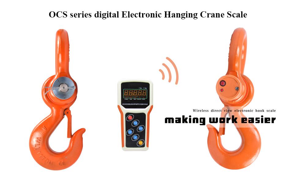 MXBAOHENG 5T Wireless Digital Electronic Hanging Crane Scale with Handheld Meter