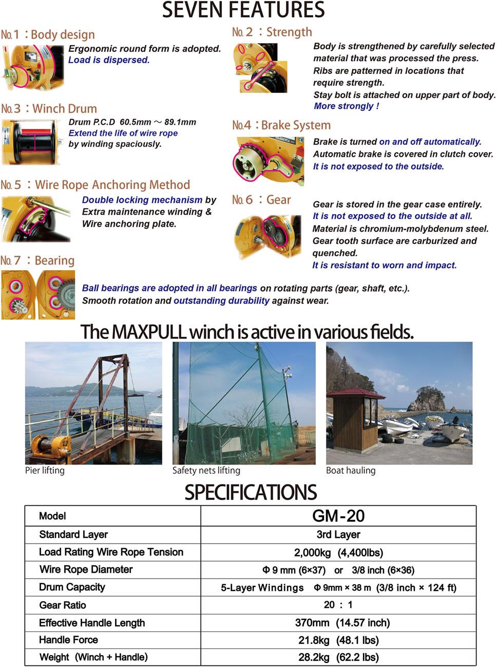 Amazon.com: Maxpull Steel Spur Gear Heavy Duty Hand Manual Winch ...
