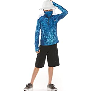 Kids Andros Fishing Hoodie Coolibar UPF 50 Sun Protective