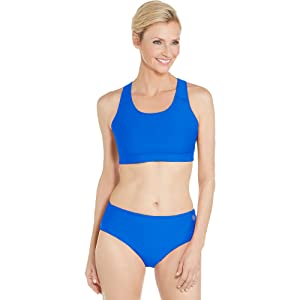 d76d922c1a925 Amazon.com  Coolibar UPF 50+ Women s Medley Swim Bra - Sun ...