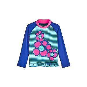 Sun Protective Baby Girls Guppy Ruffle Swim Shirt Coolibar UPF 50