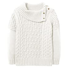 bb4289dbc93 Chuanqi Girls Sweaters Winter Cute Cowl Neck Pullover Sweater Long Sleeve  Cable Knit Tops