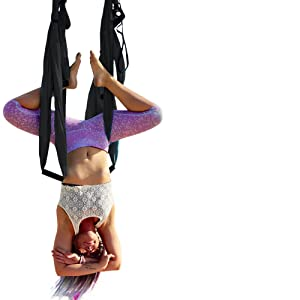 black yoga swing inversion equipment inverted table back pain