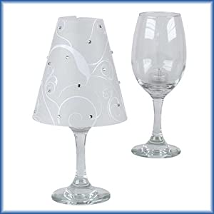 Semi Transparent Wine Glass Lampshades Make A Beautiful Table Decoration  For Your Event Or Party. Simply Choose Your Favorite Wine Glasses, Place A  Battery ...