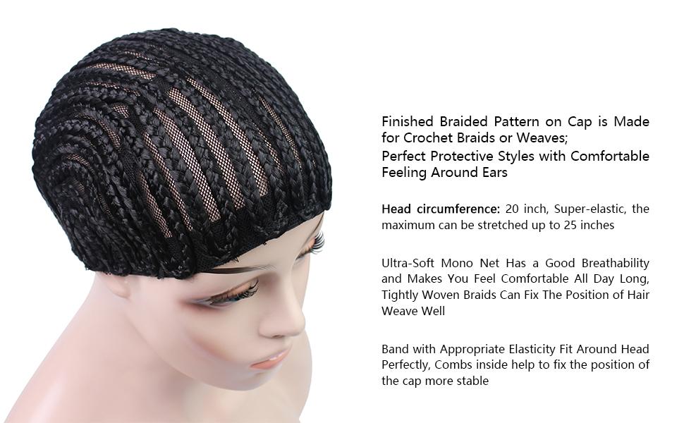 Amazon Braided Cap Made For Crochet Braids Or Hair Weaves