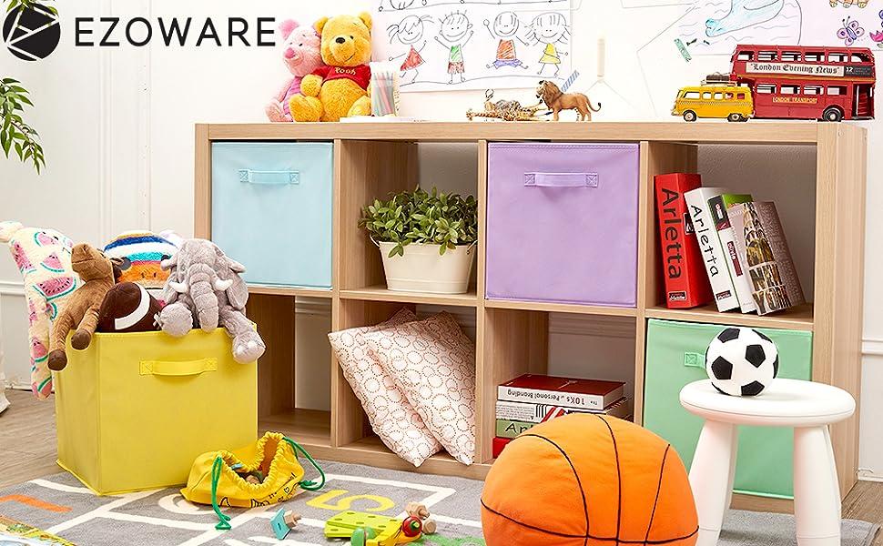 kids bin organizer cube system kallax 13 x 15 nursery cute baby toy storage solution books
