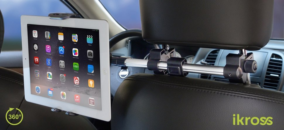 Amazon tablet mount holder ikross universal tablet car backseat the ikross tablet mount kit was designed to create a backseat entertainment system without the need for wiring tools or modifications to the headrest keyboard keysfo Choice Image