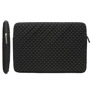 Evecase Diamond Foam Splash Shock Resistant Neoprene Sleeve Notebook Case Bag For