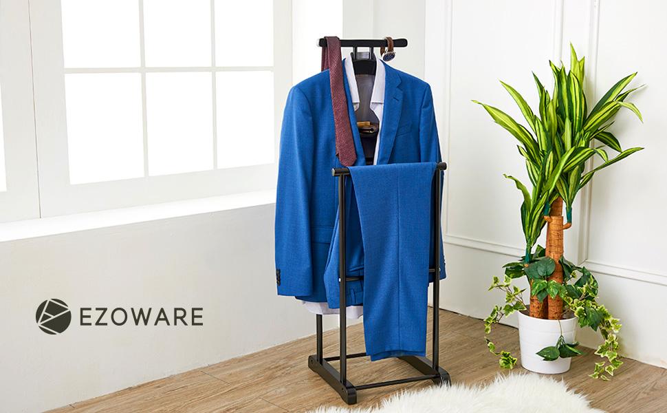 Amazon.com: EZOWare Clothes Valet Stand for Men, Suit Coat ...