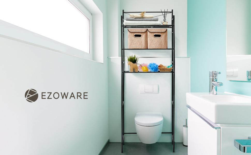 Amazon.com: EZOWare 3-Tier Metal Bathroom Shelf Space Saver, Over ...
