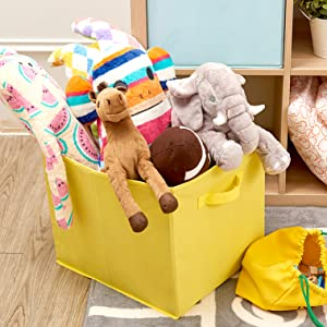 kids storage cute bins boxes storage organizer closet shelf bookshelf colorful toys baby nursery