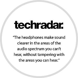 review, headphones, audeara, techradar, clear sound, hearing test headphones, clarity, noise cancel