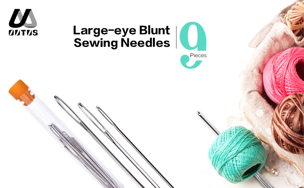 Healifty 90 Pcs Large Eye Blunt Needles Steel Yarn Knitting Needles Sewing Needles for Leather Projects