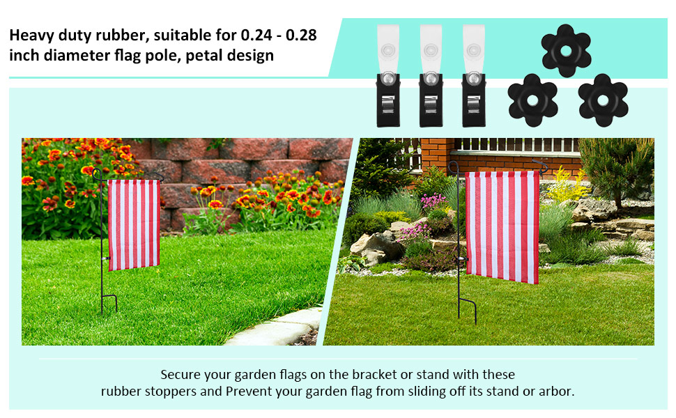 garden flag pole bulk with solar light stand accessories simple inexpensive solution chase flags street