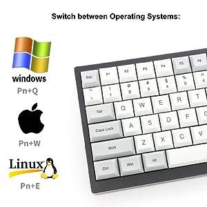Vortex Tab75 tab 75 bluetooth wireless mechanical gaming keyboard vortexgear dsa pbt keycaps