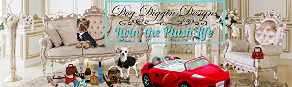 Dog Diggin Designs Plush Dog Toy Collection