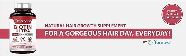 Vitaminas para el Cabello con Biotina - Pastillas para Crecimiento del Pelo y Barba | Fortalece el Pelo Piel y Unas - Previene la Caida del Pelo - 120 ...