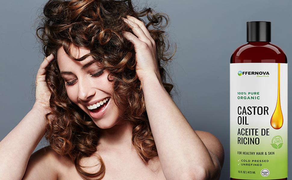Aceite de Ricino Castor 100% PURO y ORGANICO - Para el Cabello Cejas Pestañas Piel Artritis - Libre de Quimicos - Aceite de Higuereta