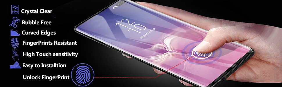 galaxy s10+ screen protector features