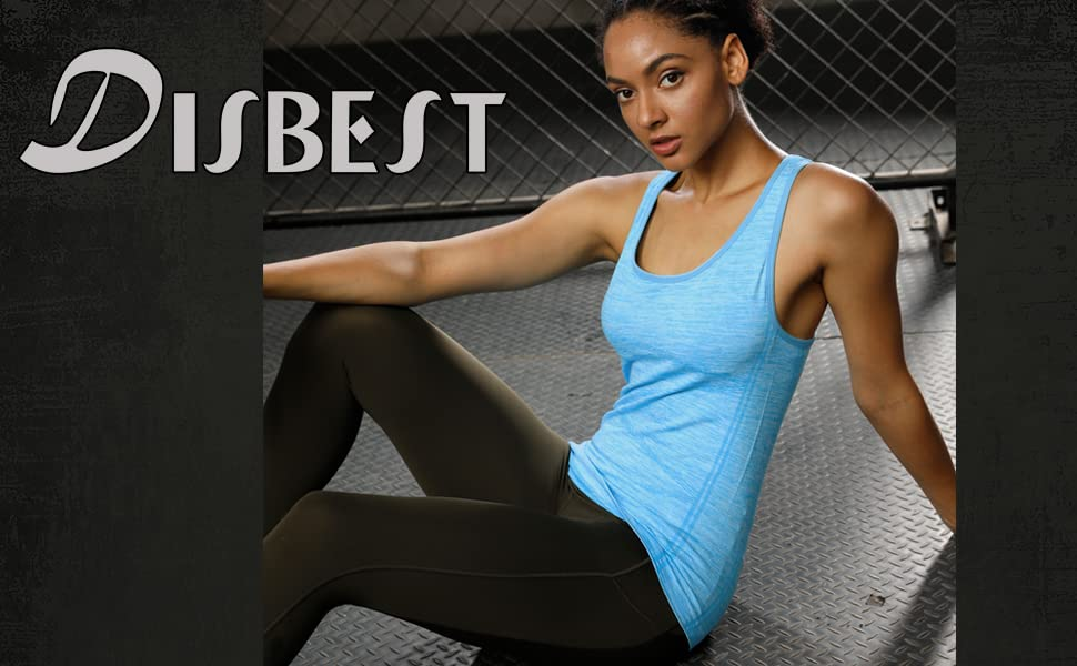Superora Damen Tank Top /ärmellos Casual Loose Gym Yoga Fitness Running Racerback Weste