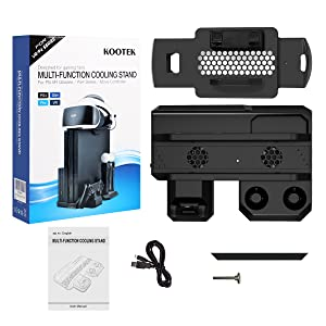 Kootek Charging Stand with Cooling Fan for Playstation VR Move Motion Controllers