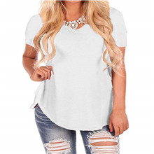 Short Sleeve V-Neck T-Shirt Loose Fit Tops Tee for Women