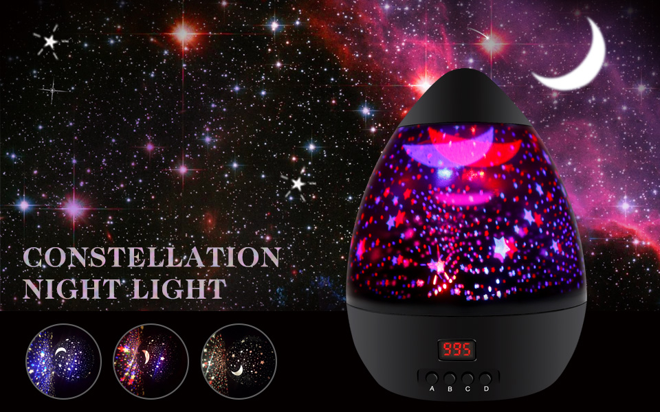 MOKOQI Egg Style Night Lighting Star Moon Projection L& & Amazon.com: [ Newest Vision ] Star Light Rotating Projector MOKOQI ...