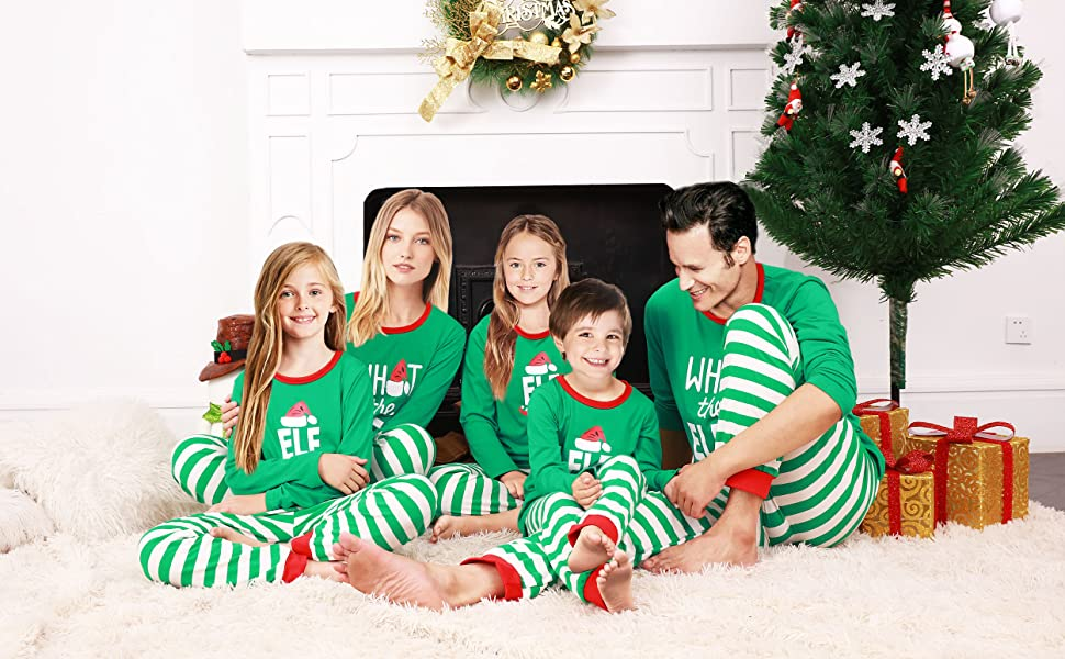 3ba95b74fd Amazon.com  Rnxrbb Holiday Christmas Pajamas Family Matching Pjs Set ...