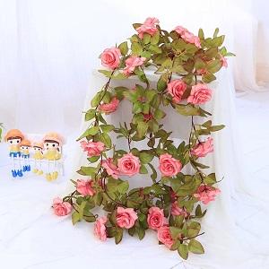 silk rose flower garland
