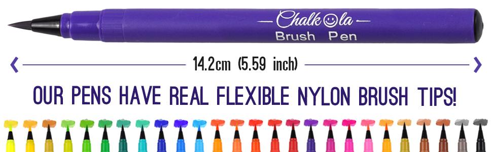 chalkola watercolor brush marker set 26 colors real brush tip