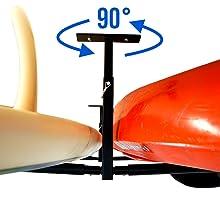 rotating adjustable bracket mount kayak ceiling storage rack joist stud screw bolt 90 degree