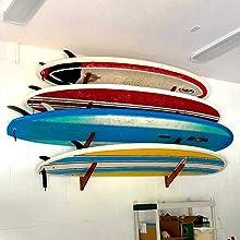organized surfboard storage 4 levels shortboard longboard fish funshape garage home apartment indoor