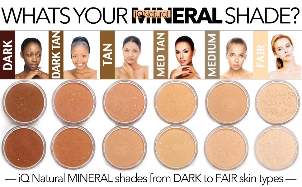 Amazon Iq Natural Mineral Makeup Starter Kit Powder Brush