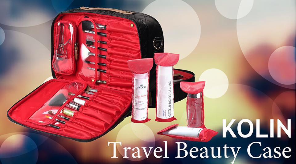 851c1d9fb413 Amazon.com: Angelina's Palace Kolin Travel Beauty Case make up ...