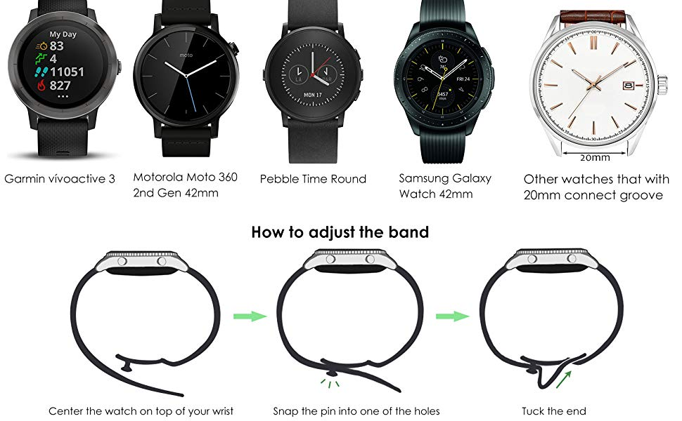 Amazon.com: Correa de reloj deportivo de silicona suave ...