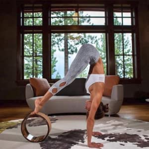 Purity Wave Cork Yoga Wheel - Eco-Friendly, Strong and Most Comfortable Dharma Yoga Prop Wheel, Perfect for Stretching and Improving Backbends, 12.5 x ...