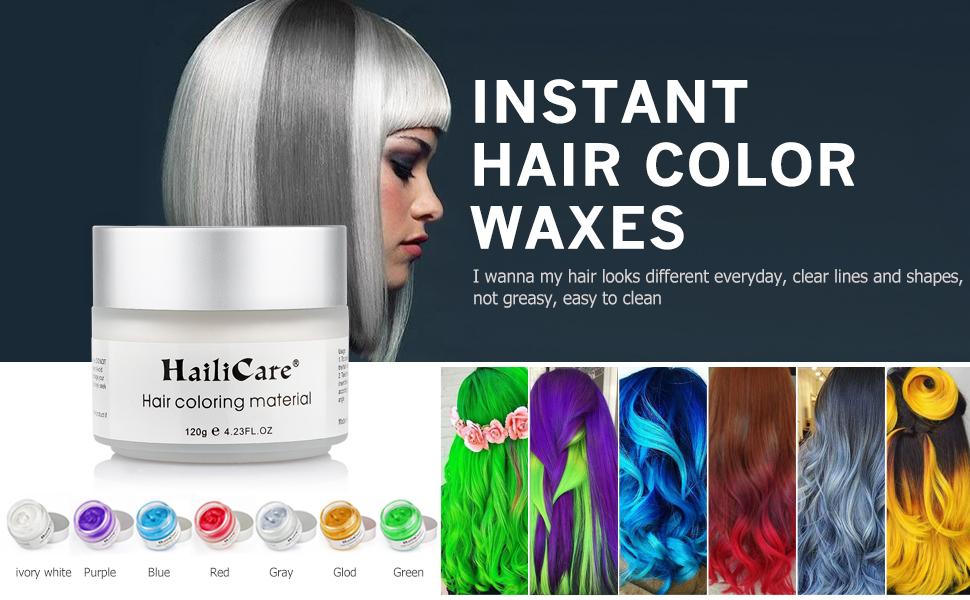 Amazon.com: HailiCare White Hair Wax 4.23 oz, Professional Hair ...