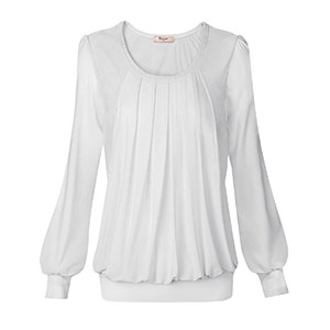 ladies tops plus chiffon blouse royal blue long sleeve blouse forthery womenblous white peasant tops