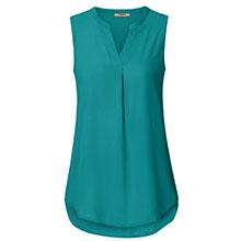 women sleeveless tunics blouses chiffon tank tops for leggings